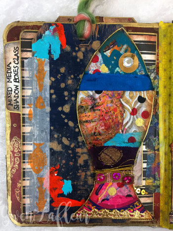 May ARTifacts Art Journal Spread 2 Left - Gwen Lafleur
