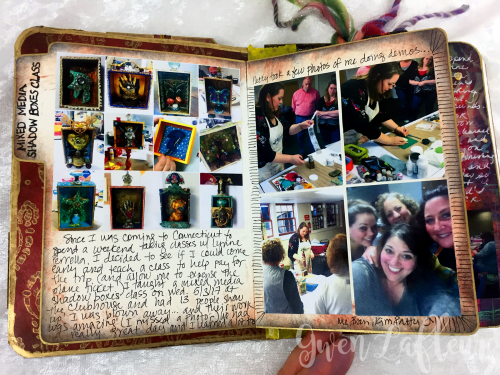 May ARTifacts Art Journal Spread 2 Left b - Gwen Lafleur