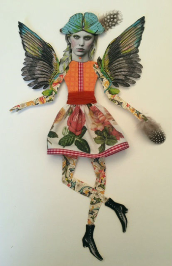 Mixed Media Paper Doll by Linda Edkins Wyatt