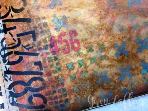 Stenciled-File-Folder-Art-Journal-with-Distress-Oxide-Inks-Spread-1-Closeup-2--Gwen-Lafleur