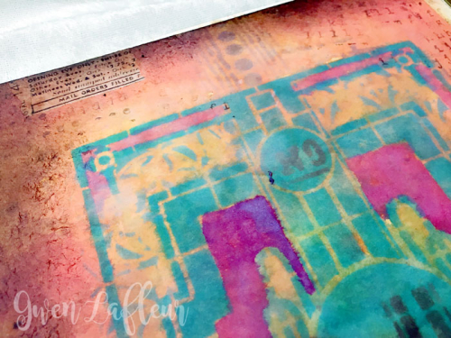 Stenciled-File-Folder-Art-Journal-with-Distress-Oxide-Inks-Back-Cover-Closeup-2---Gwen-Lafleur