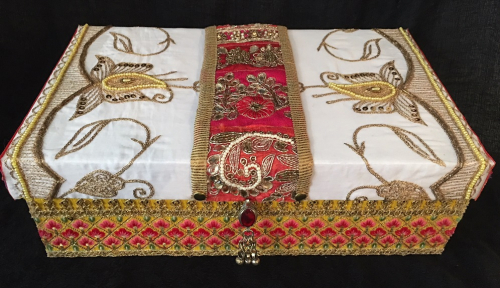 Decorative Box with Embellished Trim - Top View - Linda Edkins Wyatt