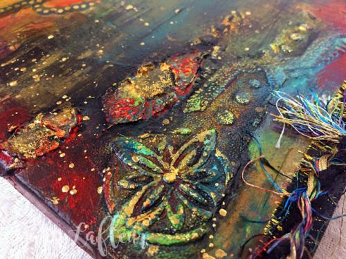 Fish-Food-Mixed-Media-Canvas---Closeup-1---Gwen-Lafleur