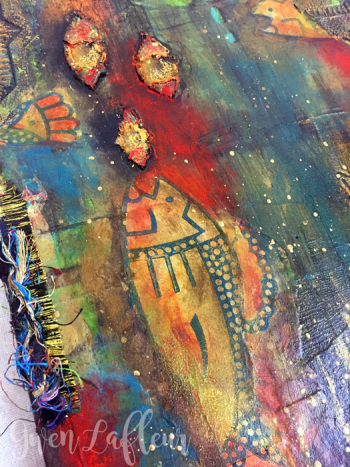 Fish-Food-Mixed-Media-Canvas---Closeup-2---Gwen-Lafleur