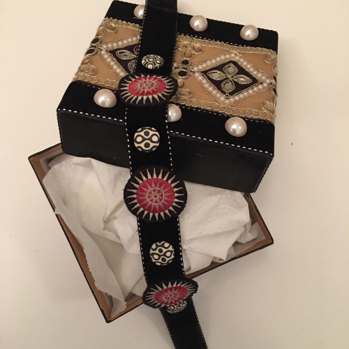 Choker Necklace with Hmong Embroidered Patches - Linda Edkins Wyatt