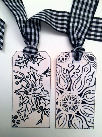DYI Holiday Tags - Black - Linda Edkins Wyatt