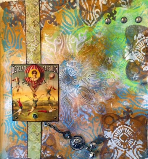 Vintage-Circus-Art-Journal-Page---Linda-Edkins-Wyatt