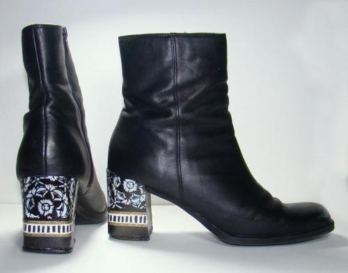 Stenciled-Boot-Heels---Sandee-Setliff
