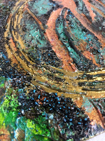 Mixed-Media-Abstract-with-Embossing-Powder-3-Closeup-1---Gwen-Lafleur