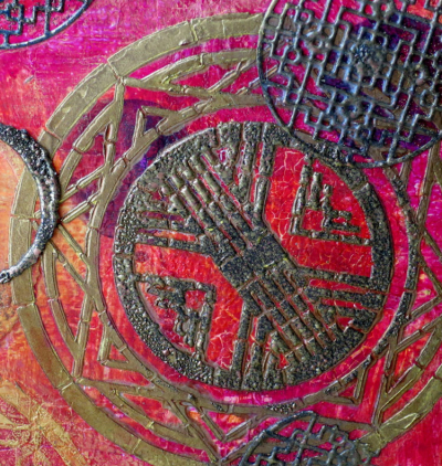 Asian-Art-Deco-Mixed-Media-Fusion-Closeup---Jackie-Neal