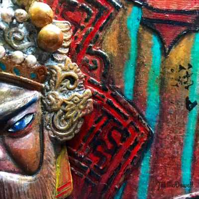 Chinese New Year Mixed Media Closeup 1 - Jill McDowell