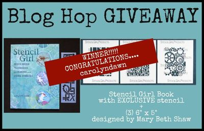 Mary Beth Book Blog Hop Winner