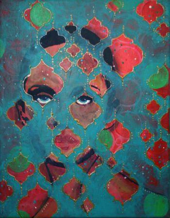 Beneath the Surface - Abigail Painting by Gwen Lafleur sm