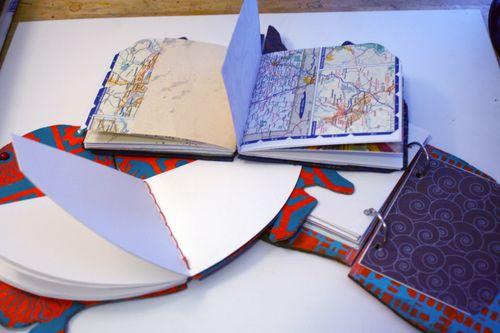 Stenciled, Shaped Books - Backs