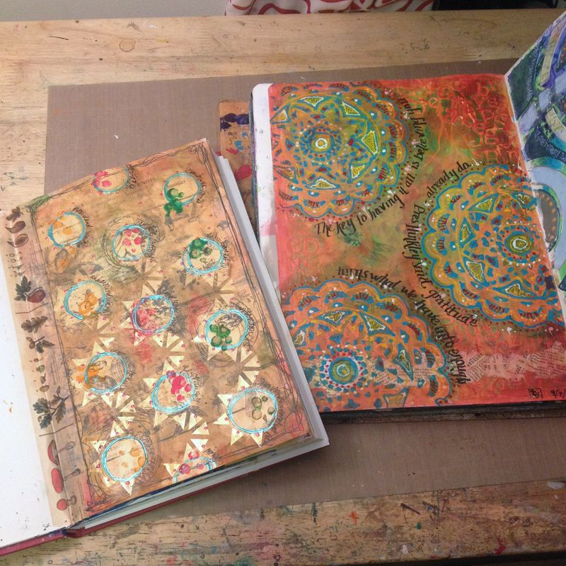 Sept Art Journal Pages