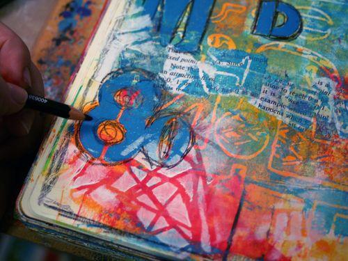 December StencilClub Step 8 - Gwen Lafleur