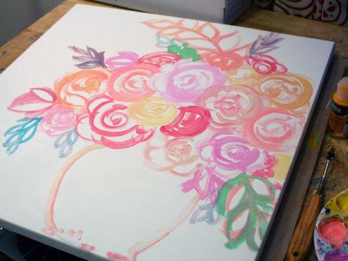 DecoArt Media and StencilGirl Painting Step 1 by Gwen Lafleur
