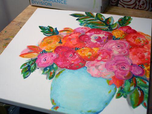 DecoArt Media and StencilGirl Painting Step 5 by Gwen Lafleur