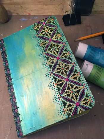 Color Themed Coptic Book by Gwen Lafleur