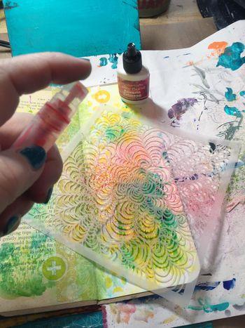 Color Burst Technique - Homemade Mist - Gwen Lafleur