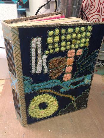May StencilClub - Sequined Art Journal 2 - Gwen Lafleur