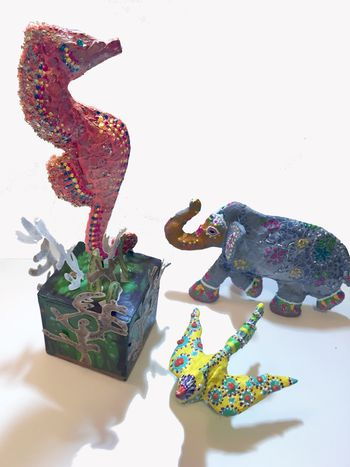 Plastic Sculptures from Stencils - Gwen Lafleur