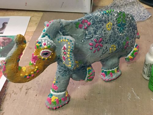 Stencil-Sculpture Elephant Final 3 - Gwen Lafleur
