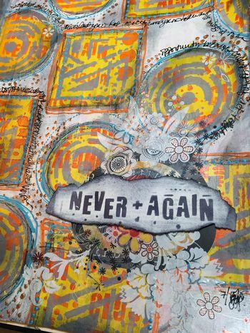 Never Again Art Journal Close-up - Gwen Lafleur