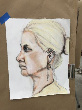 Portrait Drawing 6 - Gwen Lafleur