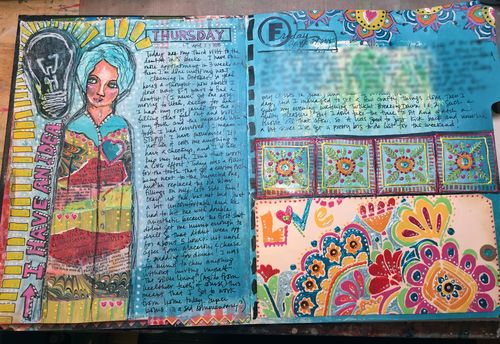 Junque Journal Spread 5 - Gwen Lafleur