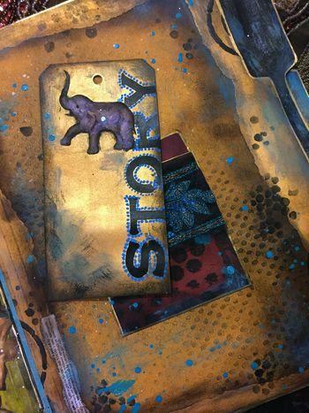 Nov2015 StencilClub - File Folder Art Journal 2b - Gwen Lafleur