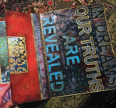 Nov2015 StencilClub - File Folder Art Journal 5b - Gwen Lafleur