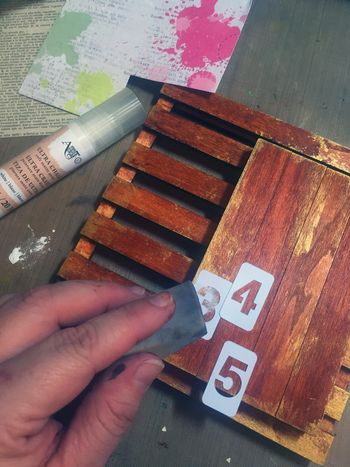 Mixed Media Art-C Pallet Project Step 3 by Gwen Lafleur