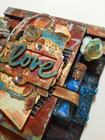 Mixed Media Art-C Pallet Project close-up 2 by Gwen Lafleur