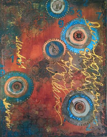 Art-C Winter 2016 CHA Paint - Art Journal Page - Gwen Lafleur