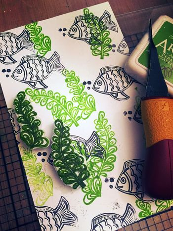Carve December 2015 - Sea Plant Stamps - Gwen Lafleur