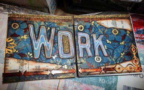 Mini Art Journal - Spread 2 - Gwen Lafleur
