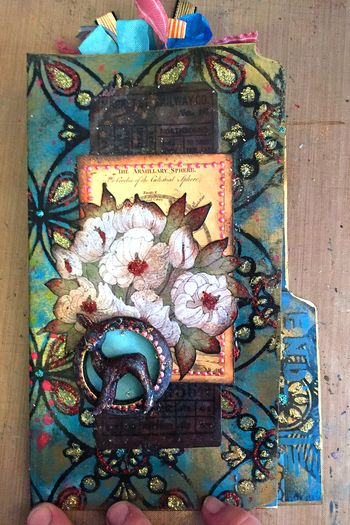 File Folder Art Journal Class Sample - Cover - Gwen Lafleur