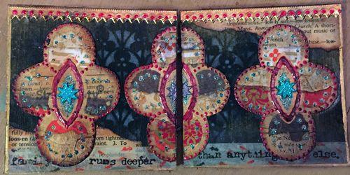 4x4 Mini Art Journal Class Sample - Spread 1 - Gwen Lafleur