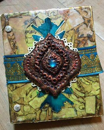 StencilGuts Handmade Art Journal - Cover - Gwen Lafleur