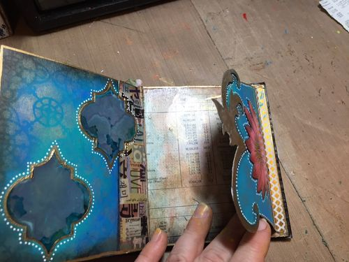 StencilGuts Handmade Art Journal - Pages 8-9a - Gwen Lafleur