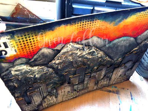 Salt Lake City Mixed Media Painting Top View - Gwen Lafleur - WM