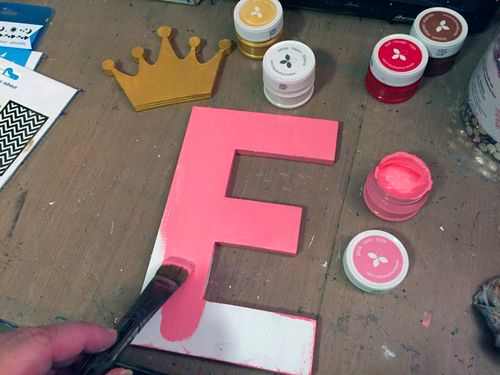 Momenta Stencils - Home Decor Girl's Initial - Step 2 - Gwen Lafleur