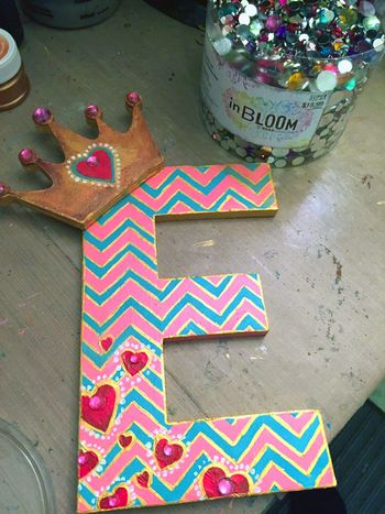 Momenta Stencils - Home Decor Girl's Initial - Step 7 - Gwen Lafleur