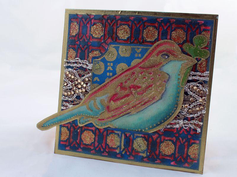 Handmade Card with Bird Foam Stamp Set - Gwen Lafleur