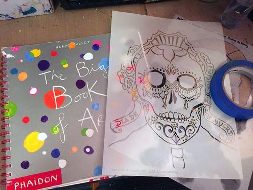 Mix and Match Faces - Art Journaling Step 1 - Gwen Lafleur
