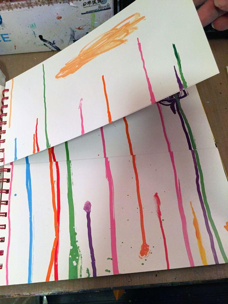 Mix and Match Faces - Art Journaling Step 1a - Gwen Lafleur
