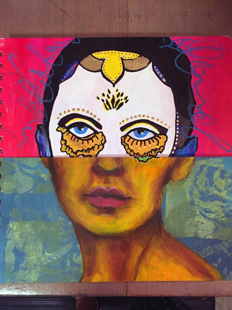 Mix and Match Faces - Art Journaling Mix 3 - Gwen Lafleur