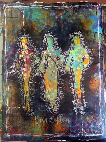 My Own Drum Art Journal Page - Final - Gwen Lafleur
