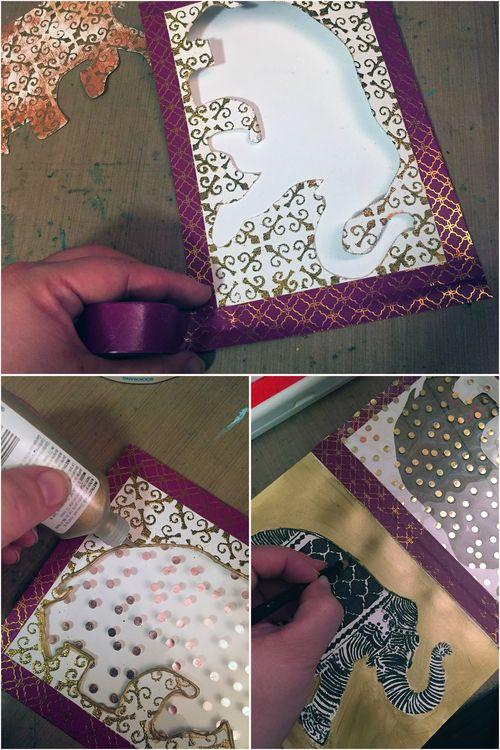 Elephant Window Card Steps 5-7 - Gwen Lafleur